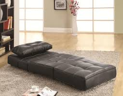 Black Leather Armless Chair Contemporary Armless Lounge Chair Sofa Bed Big City Futon