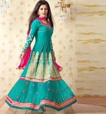 stylishbazaar green party wear dress womens georgette indian