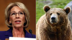 betsy devos suggests guns in to protect kids from grizzly