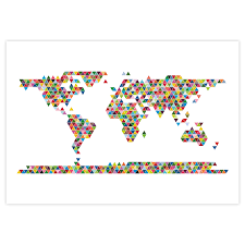 Map Poster World Map Poster Triangle