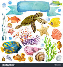 Exotic Theme Exotic Fish Coral Reef Algae Unusual Stock Illustration 291066209