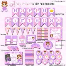 sofia princess party printable collection mimi u0027s dollhouse