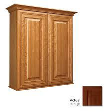 Cherry Bathroom Wall Cabinet Shop Kraftmaid 27 In W X 30 In H X 8 In D Autumn Blush Cherry