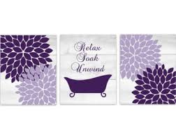 Lavender Bathroom Decor Purple Bathroom Etsy