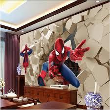 Spiderman Wallpaper For Bedroom Popular Textile Spiderman Buy Cheap Textile Spiderman Lots From