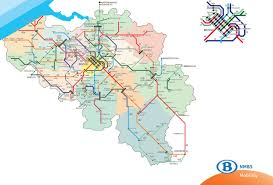 map of begium official map belgian railways network following transit maps