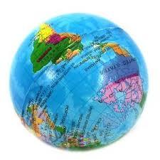 global map earth soft foam sponge world map earth globe shape for