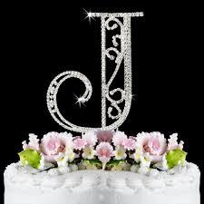 cake topper initials j wf monogram wedding cake toppers