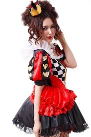 Evil Queen Costume Red Halloween Evil Queen Of Hearts Alice In Wonderland Costume