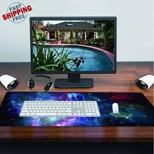 Gaming Desk Mat Cool Large Mouse Keyboard Pad Computer Gaming Desk Mat Smooth