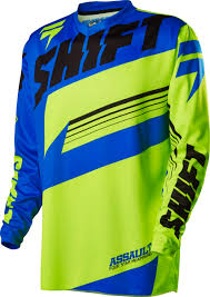 New Shift Youth Mx Gear Assault Yellow Blue Kids Large Motocross