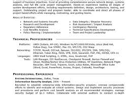 Information Security Resume Examples by Resume Example It Security Information Technology Security