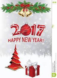 and new year greeting card 2017 stock illustration