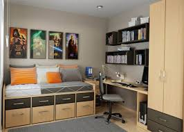 Kids Bedroom Wall Shelves Bedroom Decorating Kids Bedroom With Single Wheeled Bed And Wall
