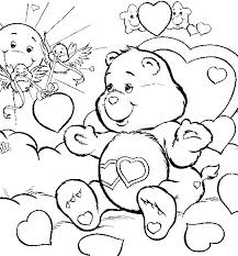 free coloring downloads asian care bears love free