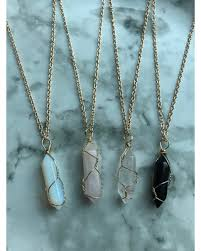 crystal quartz stone necklace images Pre black friday deal alert gold wire wrapped crystal necklace