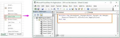 how to automatically reapply auto filter when data changes in excel