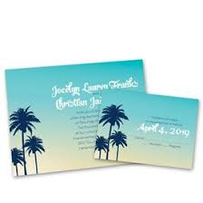 palm tree wedding invitations destination wedding invitations s bridal bargains
