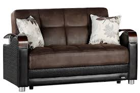 Loveseat Size Sleeper Sofa Loveseat Size Sofabed Sleeper Brown Sofa The Futon Shop