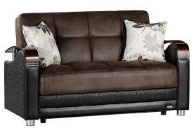 luna bed loveseat size sofabed sleeper brown luna sofa the futon shop