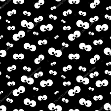 black and white halloween background halloween pattern with eyes over black background u2014 stock photo