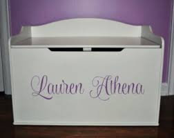 Pottery Barn Toy Chest Personalized Toy Box Etsy