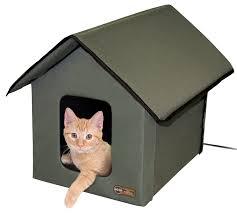 amazon com k u0026h manufacturing outdoor kitty house 18 x 22 x 17