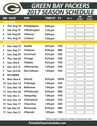 printable 2017 green bay packers schedule