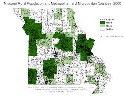 missouri map by population ten things to about vs rural
