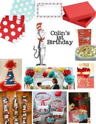 Dr Seuss Decor Dr Seuss First Birthday Party Decor U0026 Details Amber Housley