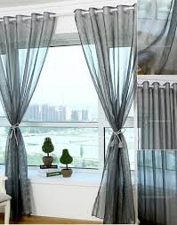 light grey sheer curtains chic silver gray organza light transparent sheer curtain