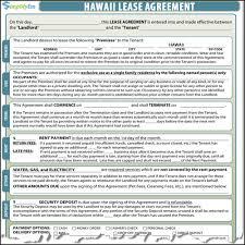 hawaii rental agreement