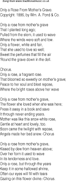 save it for the bedroom lyrics old time song lyrics for 20 only a rose from mothers grave