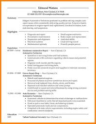 Auto Mechanic Resume Samples by 7 Automotive Technician Resume Billing Clerk Resume