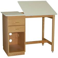 Split Drafting Table Smi 24 X 36 Pedestal Split Top Drafting Table Cpu Storage 37 H