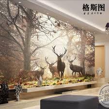3d murals 3d mural wallpaper sitting room bedroom forest milu deer