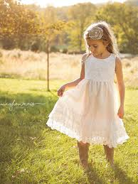 lace country rustic flower dresses u2013 country couture company