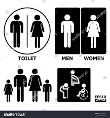 Mens And Womens Bathroom Signs Alluring 60 Bathroom Sign Vector Design Inspiration Of Toilet
