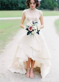 high low wedding dress robe de mariee courte high low wedding dresses 2017 high neck