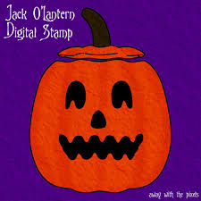 free jack o lantern clipart free halloween printables for cards and stamps