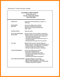 Sample Resume For Applying Teaching Job by Resume Sample For A Teacher Job Templates
