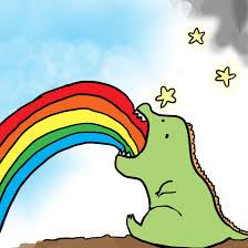 Throwing Up Rainbows Meme - dinosaur puking rainbows by emilybis8 jpg