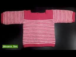 sueter tejido a dos agujas youtube diy jersey bebe de 3 a 6 meses parte 1 tejer con dos agujas