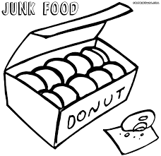 junk food coloring pages coloring pages to download and print