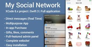 my social network ios app and website swift 4 by qascript
