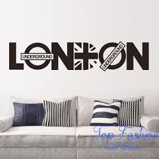aliexpress com buy 92 20cm london vinyl union jack art wall