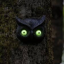 tree face glow in the dark garden owl face