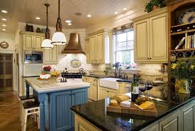 kitchen style french country kitchen light blue island base white