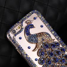 Peacock Decoration Aliexpress Com Buy 2017 Diamonds Peacock Decoration Mobile Phone