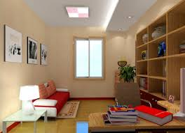 study room white ceiling and lighting design 3d house